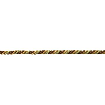 "Small BROWN GOLD  Baroque Collection 3/16"" Decorative Cord Without Lip Style# 316BNL Color:  GOLDEN CHESTNUT - 5207  (Sold by The Yard)"