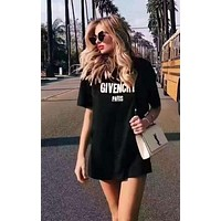 """Givenchy"" Trending Women Print Loose Short Sleeve T-Shirt Pullover Top I"