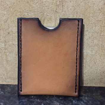 Handcrafted Leather Card Wallet w/ Moneyclip