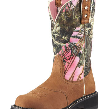 Ariat Boots Women's Pink Timber Camo Probaby Cowgirl Boots