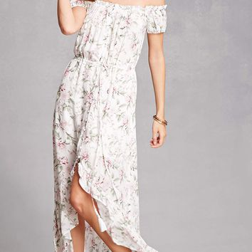 Ruffled Floral High-Low Dress