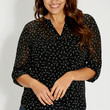 the perfect plus size blouse in bird print