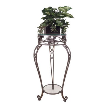 Passport By Mario 2105 Camille Antique Nickel Dragonfly Plant Stand