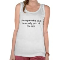 bright white tanktop from Zazzle.com