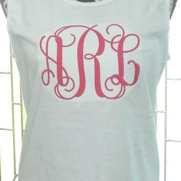 Jumbo Monogram Tank Tops Custom Embroidery Comfort Colors Wedding Party Gifts Swim Suit Cover. Sorority Rush