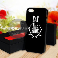 Eat The Rude Black case for Samsung Galaxy S3,S4,S5/Note 2,3/iPod 4th 5th/iPhone 5,5s,5c,4,4s,6,6+[ M03 ] LG Nexus/HTC One