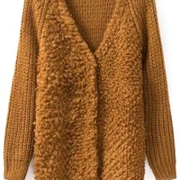 Warm V-neck Long Sleeves Mohair Cardigans - OASAP.com