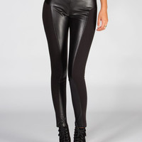 Jack By Bb Dakota Del Mar Womens Faux Leather Pants Black  In Sizes