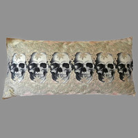 Lacy Skull Decorative 28 x 20 Throw Pillow Cover