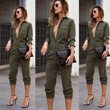 Army girl jumpsuit