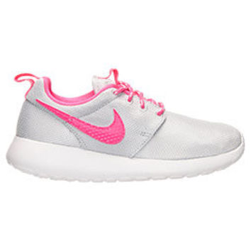 Blinged Preschool Nike Roshe Run Platinum / Hyper Pink