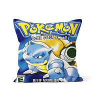 Pokemon Blue Blastoise Pillow