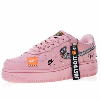 "Just do it ""Nike Air Force 1 Low  Women Sneaker ""Pink""616725-800"
