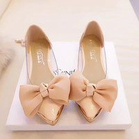 Princess Bow Transparent Shoes