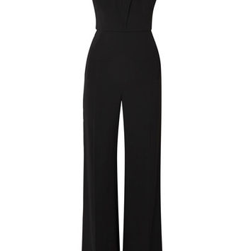Roland Mouret - Cold-shoulder crepe jumpsuit