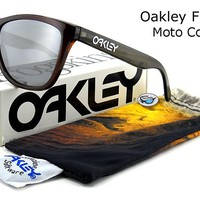Oakley FROGSKINS Sunglasses | 9013-37 Moto Collection Vapor / Black Iridium Lens