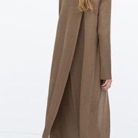 Long cardigan with slits