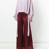 Romeo Gigli Vintage Glossy Flared Trousers - Farfetch