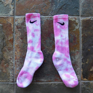 Breast Cancer Awareness Tie Dye Nike Socks , volleyball , basketball , Back to School, stocking stuffer, pink , Athletic Wear, Sports team