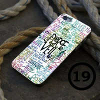 Pierce The Veil Lyric Quote - iPhone 4/4s, iPhone 5/5S, iPhone 5C and Samsung Galaxy S3/S4 Case.