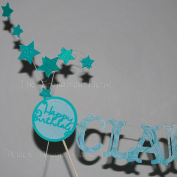 Birthday Banner, personalized cake topper, cake bunting, cake banner, cake topper,birthday, cake bunting topper, birthday decorations