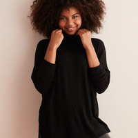 Aerie Plush Turtleneck , True Black