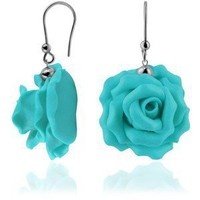 Forzieri Hand Made Rose Sterling Silver Earrings - Polyvore