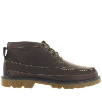 CREYONIG Sperry Top-Sider A/O Lug Chukka II - Waterproof Brown Leather Moc Toe Chukka Boot