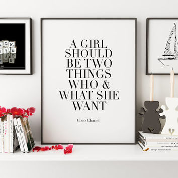 COCO CHANEL QUOTE,Printable Art,Chanel Print,Inspirational Quote,Girls Room Decor,Girls Bedroom Decor,Women Gifts,Typography Print,Home Art