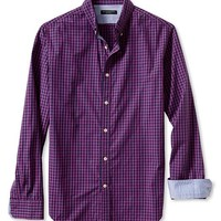 Tailored Slim-Fit Soft-Wash Gingham Button-Down Shirt