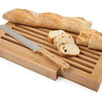 One Kings Lane - The Natural Look - Bread Board & Bread Knife
