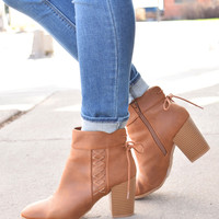 Mulberry Lace Up Bootie