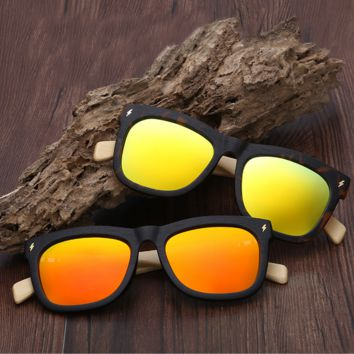 Bamboo Wood Printed Sunglasses