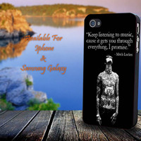 Mitch Lucker Quote - Print on hard plastic for iPhone case. Please choose the option.