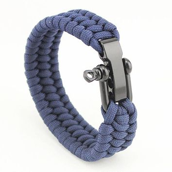 Outdoor Camping Survival Rescue Paracord Bracelet