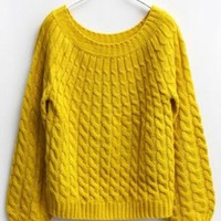 Yellow Cannabis Vintage Short Sweater ( color) style sweater382 in  Indressme