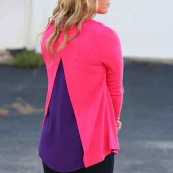 Colored Spaces Sweater {Pink+Purple}