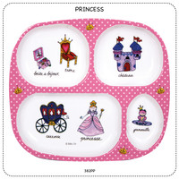 Baby Cie Princess Round Textured Sectioned Plate for Baby