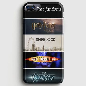 Fandoms Harry Potter Sherlock Doctor Who Avengers iPhone 7 Plus Case