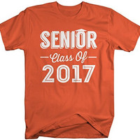 Shirts By Sarah Men's Senior Class Of 2017 T-Shirt Seniors Shirt Personalized Cap