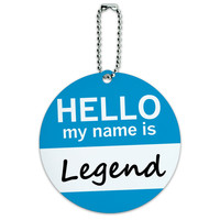 Legend Hello My Name Is Round ID Card Luggage Tag