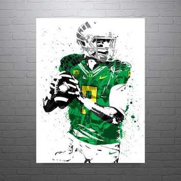 Marcus Mariota Oregon Ducks Poster