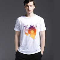 Strong Character Slim Tee Round-neck Cotton Summer Creative Short Sleeve Men's Fashion Casual T-shirts = 6451147139