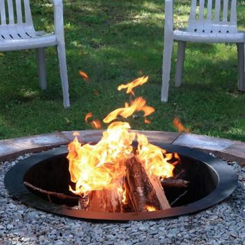 30 Inch Round Wood Burning Fire Pit Ring Outdoor Campfire