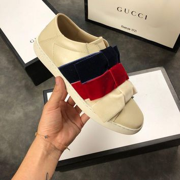 Gucci Ace Sneaker With Velvet Bows #1081