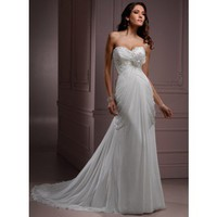 A-line Chiffon Sleeveless bridal gown