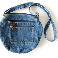 Vintage denim jean purse. across body bag