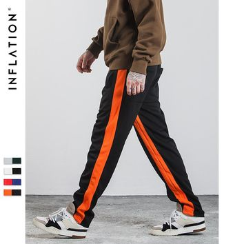 INFLATION 2017 New Autumn Mens Sportswear Pants Side Stripe Jogger Pants Elastic Waist Vintage Casual Mens Pants 348W17