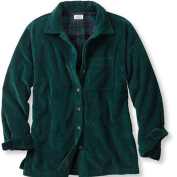 Comfort Corduroy Big Shirt, Lined: Corduroy and Flannel | Free Shipping at L.L.Bean