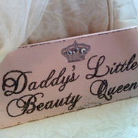Girls Bedroom Sign, Daddy's Little Beauty Queen, BABY ROOM Sign, PINK Baby Room Decor Beauty Pagent Sign, Baby Gift